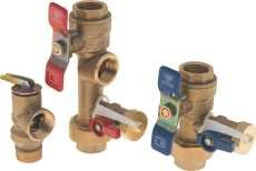 Noritz Tankless Water Heater Isolator Valve Kit (threaded), 3/4 In., Lead Free