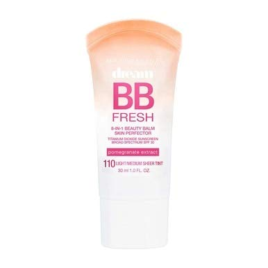 Maybelline Dream Fresh BB 8-in-1 Beauty Balm Skin Perfector SPF 30, Light/Medium, 1 oz (Pack of 2)