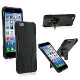 Zizo HYBRID PC/SC Combo Cover with Kickstand for Iphone 6 Plus - Retail Packaging - Black