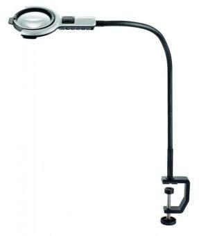 Eschenbach No. 27815 Vario LED flex Desk Light Stand Magnifier, 2.5x - 6D - Aspheric Lens Dim. 76 mm, stand length 600 mm