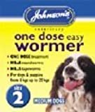 Shopping Sky Johnsons One Dose Wormer Tablets Worming Medium Dogs Dewomer Upto 20kg Size 2
