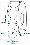 Compulabel® 910350 Wafer Tab Seals, 1 Diameter White, Non-Perfed, 20,000 per Roll, 100,000 / Case