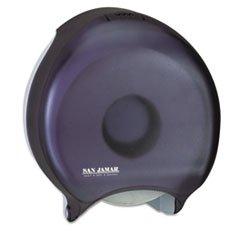 ** Single Jumbo Toilet Tissue Dispenser, 1 Roll, 10-5/8 x 5-3/4 x 12, Trans Black **