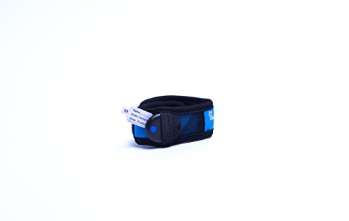 My Buddy Tag with Velcro Wristband, Blue
