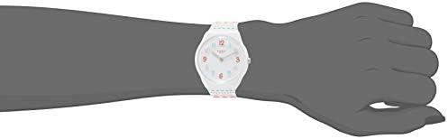Swatch Women's Quartz Watch with Silicone Strap, Multicolour, 14 (Model: LW164)