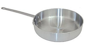 7 QT COMMERCIAL HEAVY DUTY ALUMINUM SAUTE PAN - NSF 7 Quart Aluminum Saute Pan