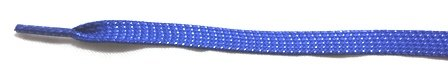 3/8'' Flat Royal Blue Glitter Shoelaces 45''