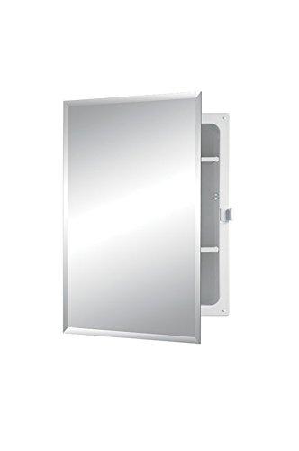 Jensen B7233B85PCX Bevel Mirror Positive Catch Medicine Cabinet, 16