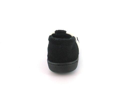 Neu Jungen/Kinder Schwarz/Weiß Voll Neuheit Design Pantoffeln - Schwarz/weiß - UK GRÖßEN 10-5