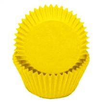 1 X Solid Yellow Glassine Baking Liners Cupcake Muffin Cups 50 count -