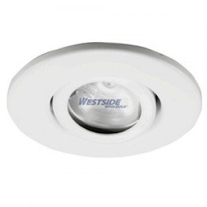 Ark Lighting ARLV-4055-G4-WH Recessed Lighting Trim, 2'' 20W G4 Max Low Voltage Mini Trim - White