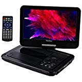 YOOHOO Portable DVD Player with 6 Hours Rechargeable Battery,Swivel Screen,Remote Controller,Supports SD Card, USB Port…