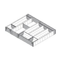 Blum Orgaline For Wood Drawers With Lengths 19 1/4'' To 20'' Cutlery Kit 18 3/4'' To 19 1/2'' W Stainless Steel by Blum