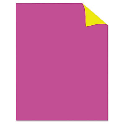Two Cool Poster Board, 22 x 28, Fluorescent Pink/Canary, 25/PK, Sold as 25 Each - Fluorescent Pink Poster Board