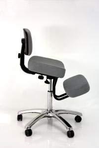 Jobri Grey Jazzy Chrome Deluxe Kneeling Chair by jobri