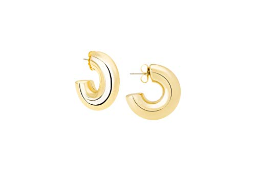 JANIS BY JANIS SAVITT High Polished Small Hoop Earrings