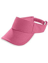 Augusta Activewear Athletic Mesh Two-Color Visor-Youth, Pink/White, One Size ()