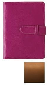 Tan smooth leather brag book by Raika - 4x6