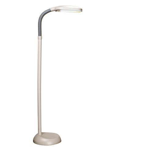 Balanced Spectrum Floor Lamp, Adjustable Gooseneck, Full Spectrum Natural Daylight Reading Light, 50