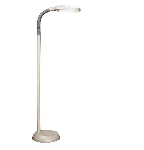(Balanced Spectrum Floor Lamp, Adjustable Gooseneck, Full Spectrum Natural Daylight Reading Light, 50