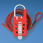 Panduit PSL-MLDH-X HASP Multiple Lockout Device (Hasp only), Red by Panduit