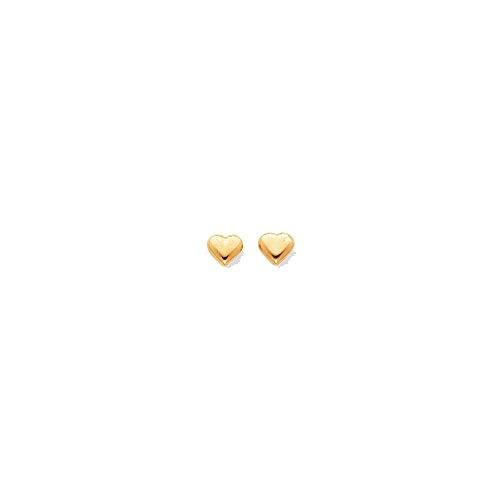 14k Yellow or White Gold Madi K. Puff Heart Post Earrings