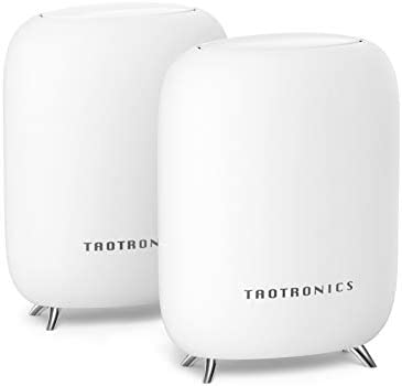 TaoTronics Mesh WiFi System, Tri-Band AC3000 3Gbps Speed 5,000 Sq. Ft Coverage Whole Home WiFi Router/Extender Replacement, 4 Gigabit Ethernet & 1 USB 3.0 Ports, Connection of as much as 200 Devices-2 Pack