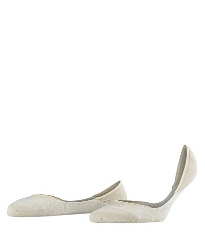 Falke Women's Step Cotton Invisible Ped Liner Sock, Cream, 39-40 (8-9 US)