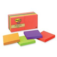 3M Commercial Office Supply Div. Products - Super Sticky Pads, 90 Sheets/PD, 3