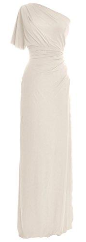 one shoulder jersey dress - 9