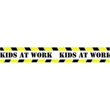 - CDPCD3315 - Straight Border, Kids At Work, 12/PK, 3x3