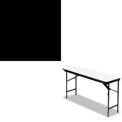 KITICE30237ICE55287 - Value Kit - Iceberg Premium Wood Laminate Folding Table (ICE55287) and Iceberg Presentation Flipchart Easel w/Dry Erase Surface (ICE30237) by Iceberg