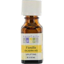 Precious Essentials Oil Vanilla Absolute w/Jojoba Aura Cacia 0.5 oz Oil - Cacia Perfume Natural Aura