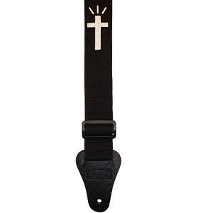 Fort Bryan PC Bryan Christian Strap 02 Black/White (Fort Bryan Guitar Strap)
