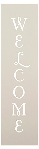 tudioR12 | Reusable Mylar Template| Ideal for Painting and DIY Crafting Vertical Patio, Porch Signs - Pallet (Rustic Farmhouse Entrance)15