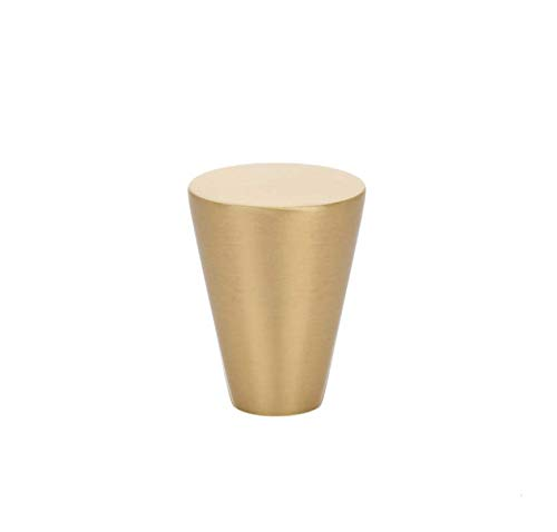 Luxe Satin Brass Modern Cabinet Knob and Handles Pull Furniture Kitchen Door Knobs and Pull Handles (Cone Knob)