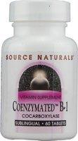 (Source Naturals Coenzymated B-1 25mg - Quick Dissolve Vitamin - 60 Lozenges )