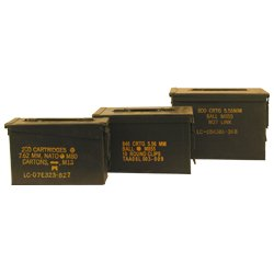 30 Cal, 50 Cal, and Fat 50 Cal Ammo Cans Grade 1 50 Cal Ammo Types