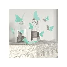 {Black Friday Clearance Sale 2016}Valentoria® 12Pcs Pink 3D Decorative Butterflies Removable Wall Art Sticker For Home Decor Wedding Party Decoration(Teal Blue)