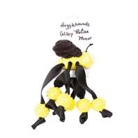 HuggleHounds Wiley the Bee Dog Toy - Minor