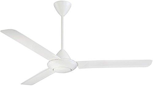 Craftmade Outdoor Ceiling Fan KDK56W3 Kodiak 56 Inch Patio Fan with Wall Control, White 5 Blade 56' Blade