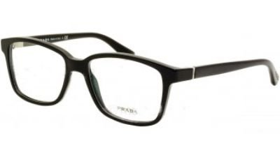 Prada Pr 01ov Gloss Black Demo Lens Eyeglasses