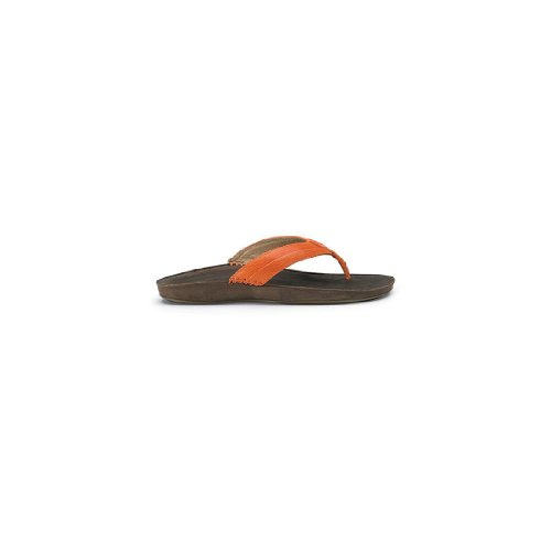 Olukai Haiku Elua Sandaler - Womens Mørk Orange / Mørk Java / Mørk Orange