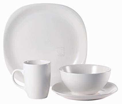 Thomson Pottery 16-pc. White Quadro Set