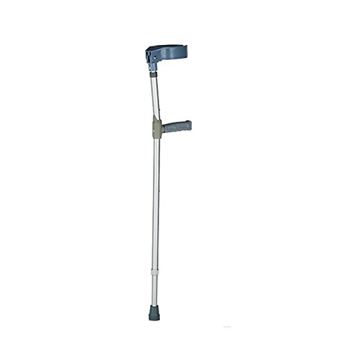 Euro Style Light Weight and Adjustable Forearm Crutch, Blue, Adult(1 Piece)