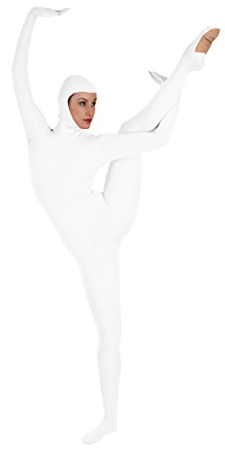 Body Wrappers Adult Hooded Unitard T280 -WHITE M by Body Wrappers