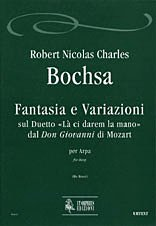 Ut Orpheus BOCHSA R.N.CH. - FANTASIA AND VARIATIONS ON THE DUET LA CI DAREM LA MANO - HARPE Partition classique Cordes Harpe