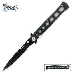 Tomahawk Black Stryker Folding Knife, Outdoor Stuffs