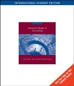 Research Design in Counseling - International Student Edition (Third Edition)