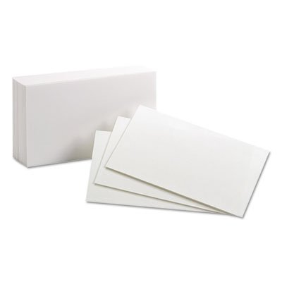 Oxford Products - Oxford - Unruled Index Cards, 3 x 5, White, 100/Pack - Sold As 1 Pack - Ideal for presentations and study aids. - Precision engineered for uniform size. - Commercial-quality card stock.